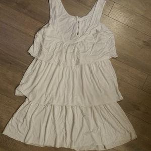 Super Cute Tart White 3 Tier Mini Dress